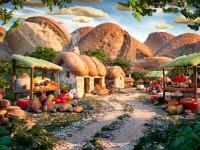 Аппетитные пейзажи из еды