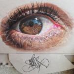 Гиперреалистические рисунки человеческих глаз