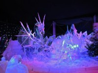 Выставка ледяных скульптур открылась в Петропавловской крепости
