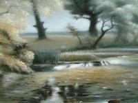 В Музее Востока представлена выставка живописи на шелке