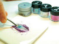 Как наносить на гель для ногтей блестки