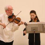 Легендарный музыкант выступил в Петербурге с молодой скрипачкой Кларой-Джуми Кан