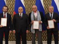 Мишустин вручил премии правительства Яхиной, Михалкову и Машкову