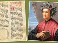 В Италии обнаружили черновики и записи XIII века, принадлежавшие Данте